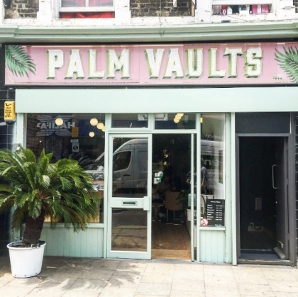 palm vaults hackney sign
