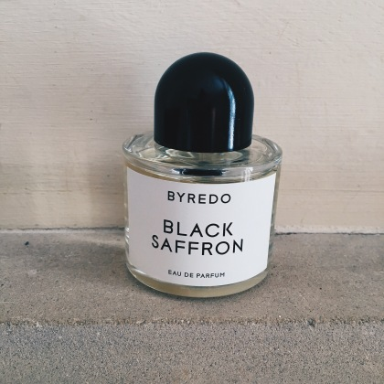 byredo black saffron perfume bottle